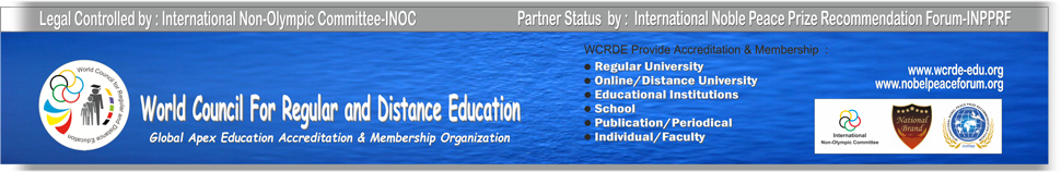 WCRDE | World Council for Regular and Distance Education